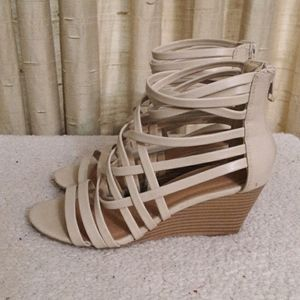 Cityclassified Cage Wedge Sandals Sz 6.5
